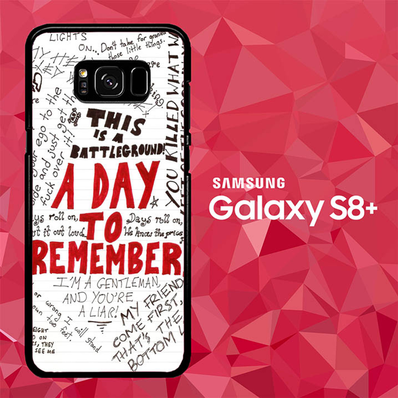 A Day To Remember Wallpaper Y0237 Samsung Galaxy S8 Plus Case