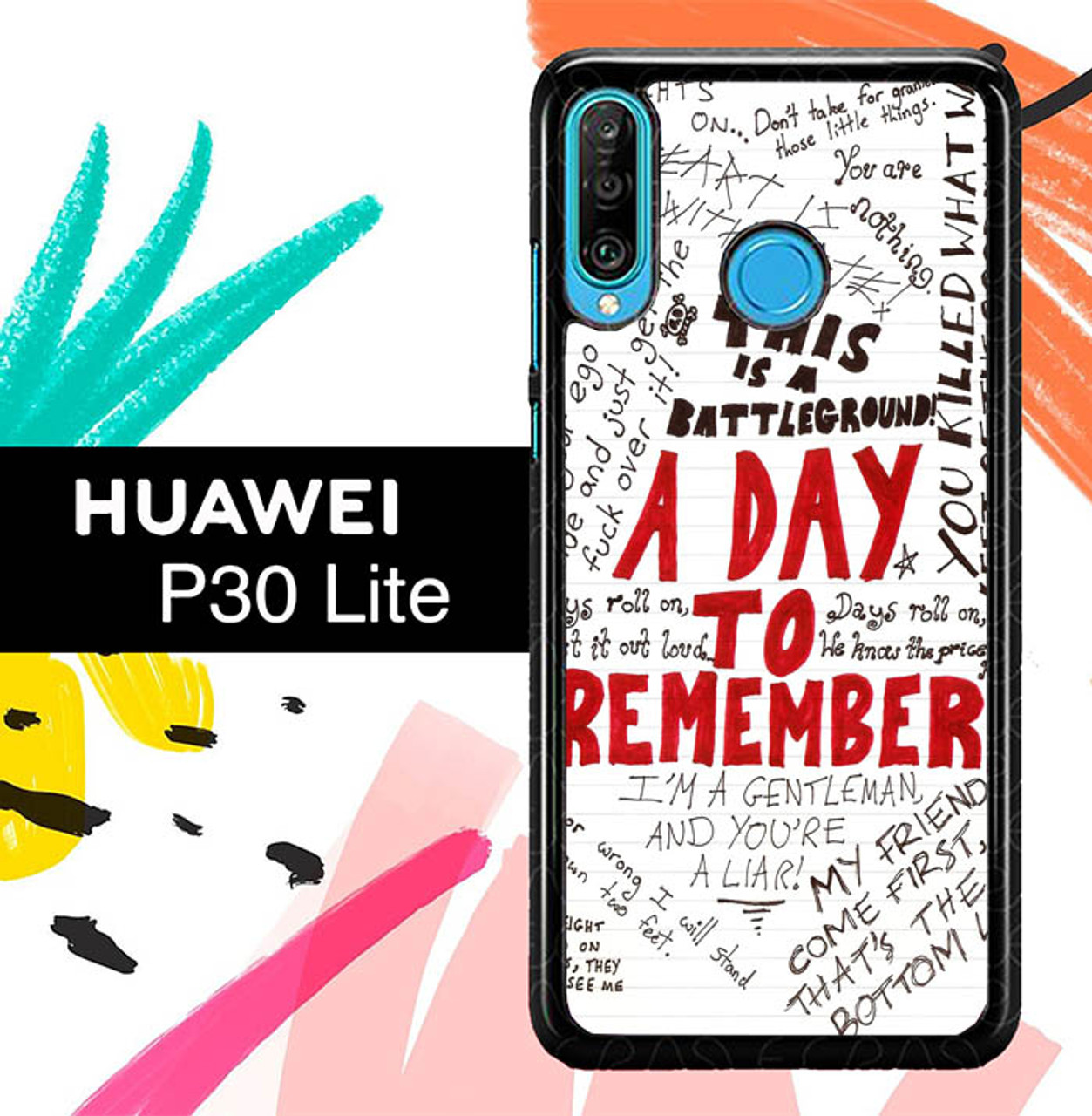 A Day To Remember Wallpaper Y0237 Huawei P30 Lite Case Flazzy Store