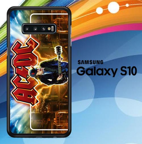 Acdc Logo Wallpaper Y1485 Samsung Galaxy S10 Case