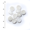 Millefiori - 50g pack (M064), white, 6-9mm