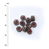 Millefiori - 50g pack (M068), red and brown, 4-6mm