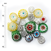 Millefiori - 50g pack (M075), mixed, 6-10mm