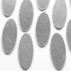 Aluminium oval tag for jewellery and other crafts