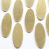 Brass oval tag for jewellery and other crafts