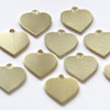 Brass heart tag for jewellery crafts