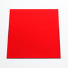 Red Anodised Aluminium Square