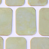 Brass rectangle metal tag for jewellery and other crafts