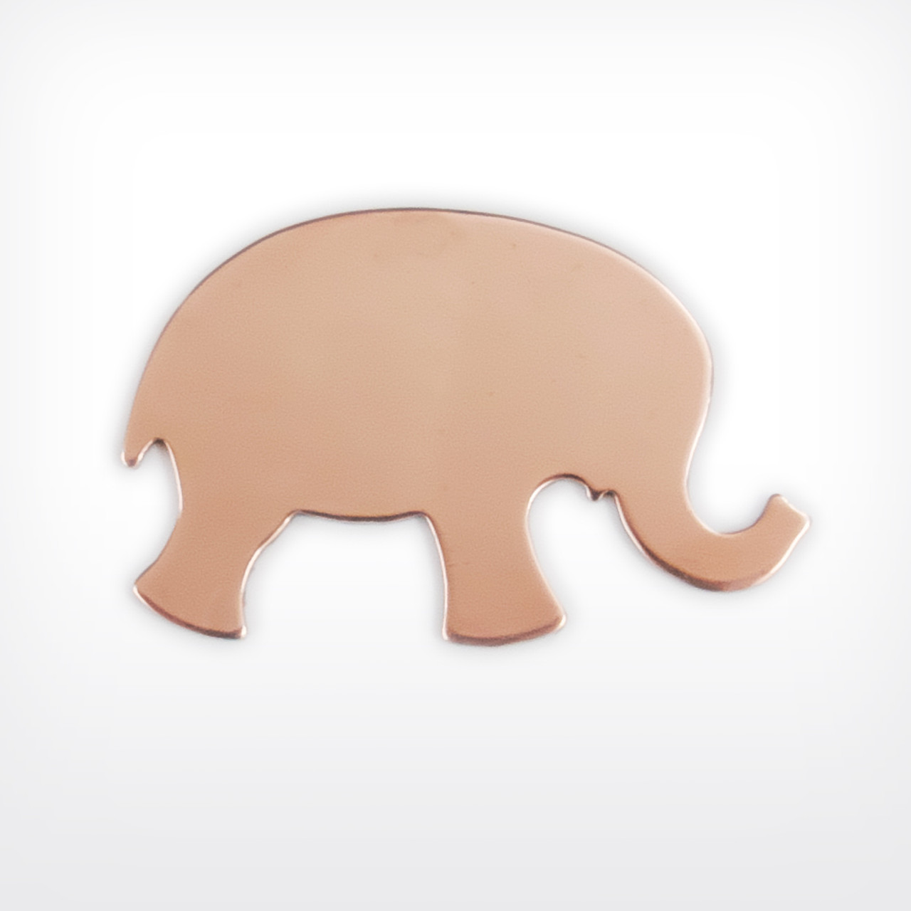 Copper Blank Elephant Stamped Shape for Enamelling & Other Crafts