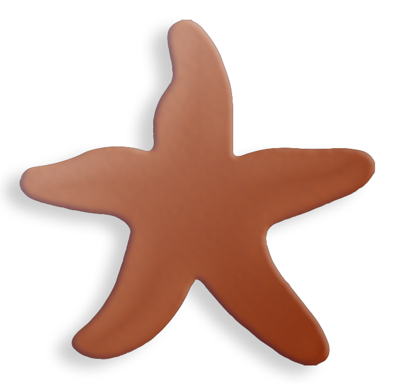 Copper Blank Starfish Stamped Shape for Enamelling & Other Crafts