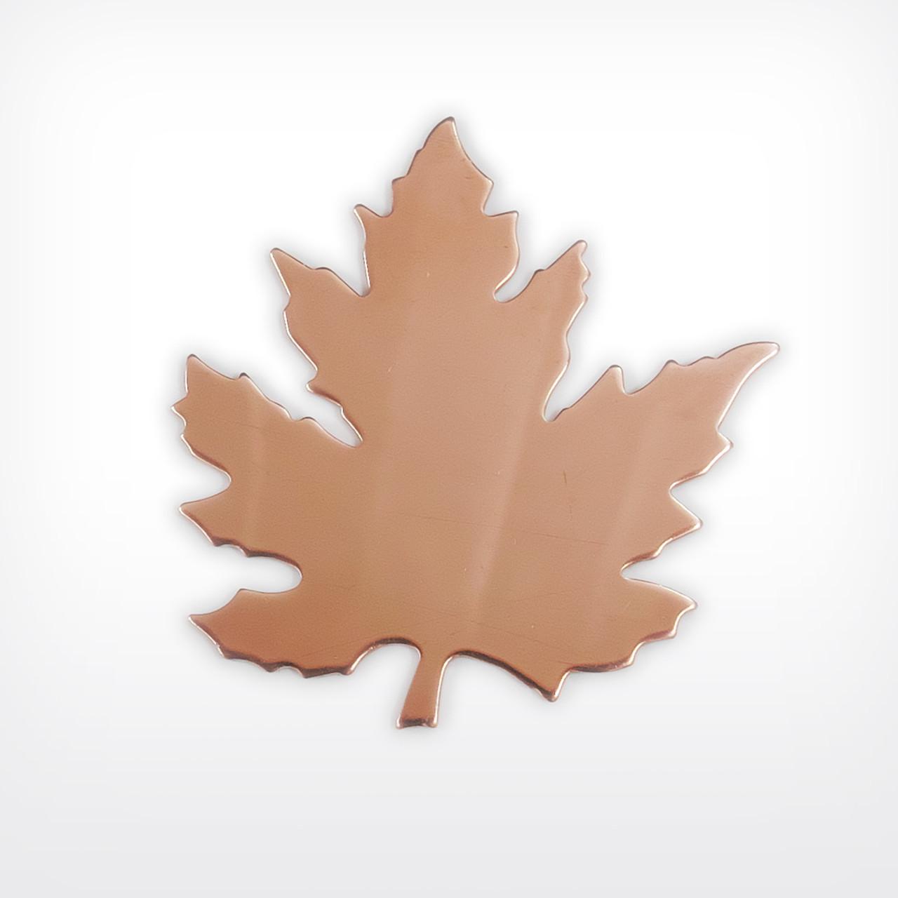 Copper Blank Leaf Stamped Shape for Enamelling & Other Crafts