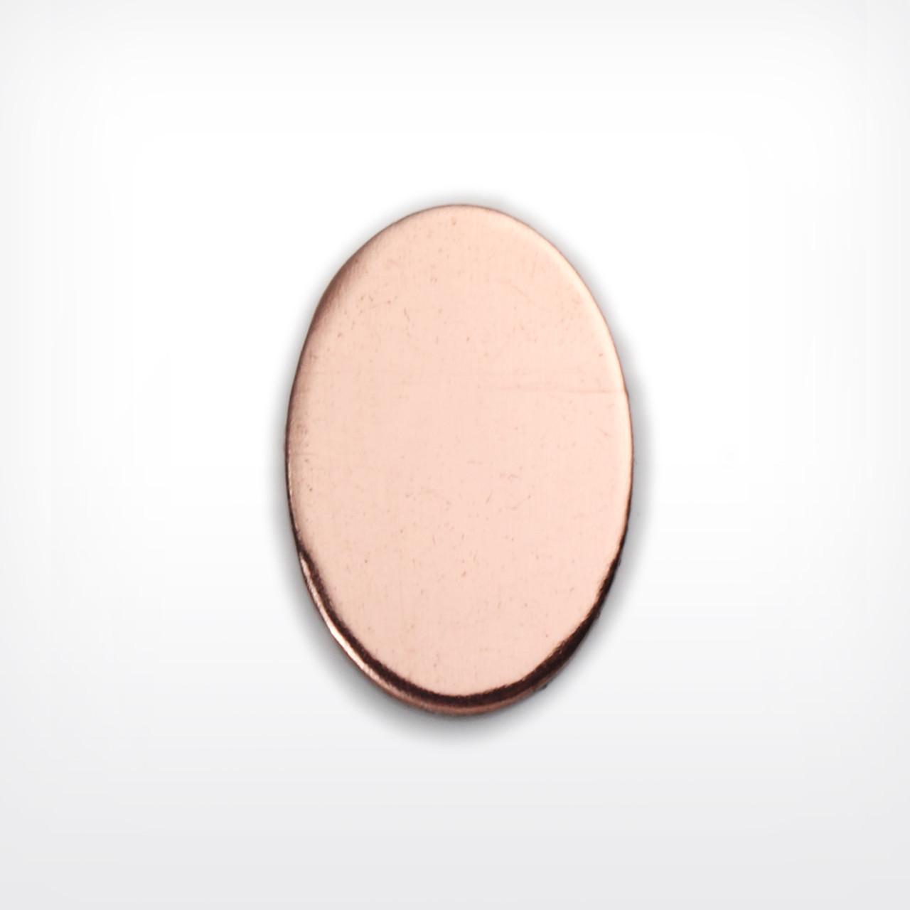 Copper Blank Oval Stamped Shape for Enamelling & Other Crafts