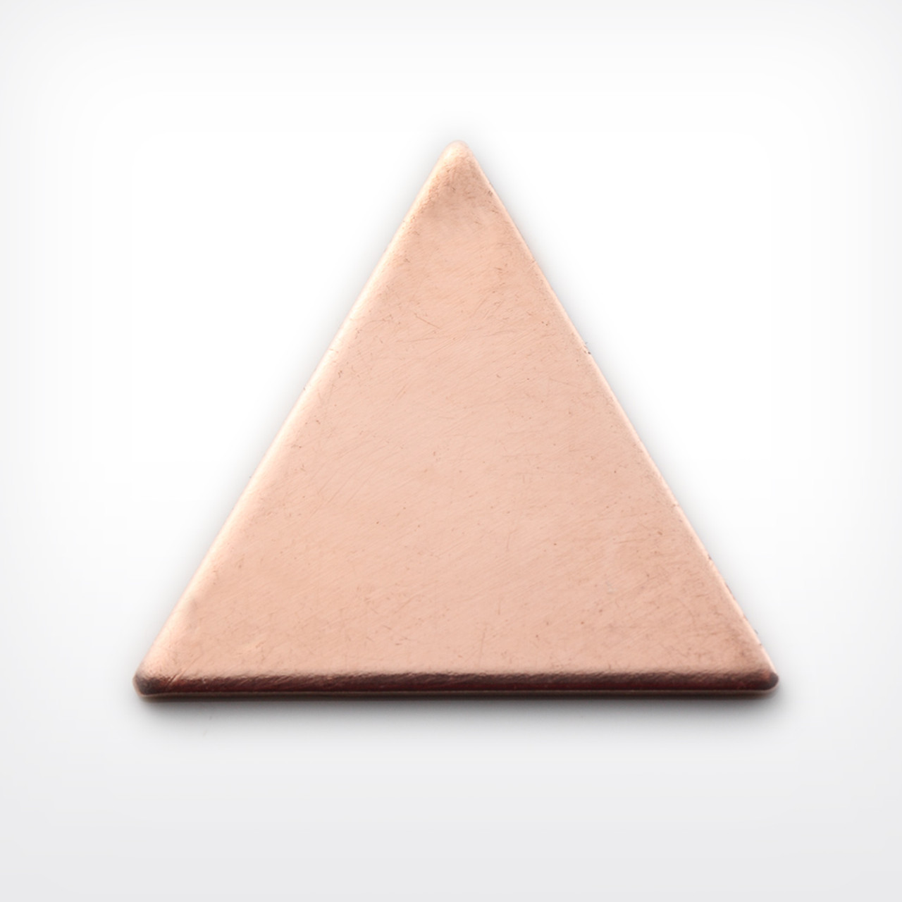 Copper Blank Triangle Stamped Shape for Enamelling & Other Crafts
