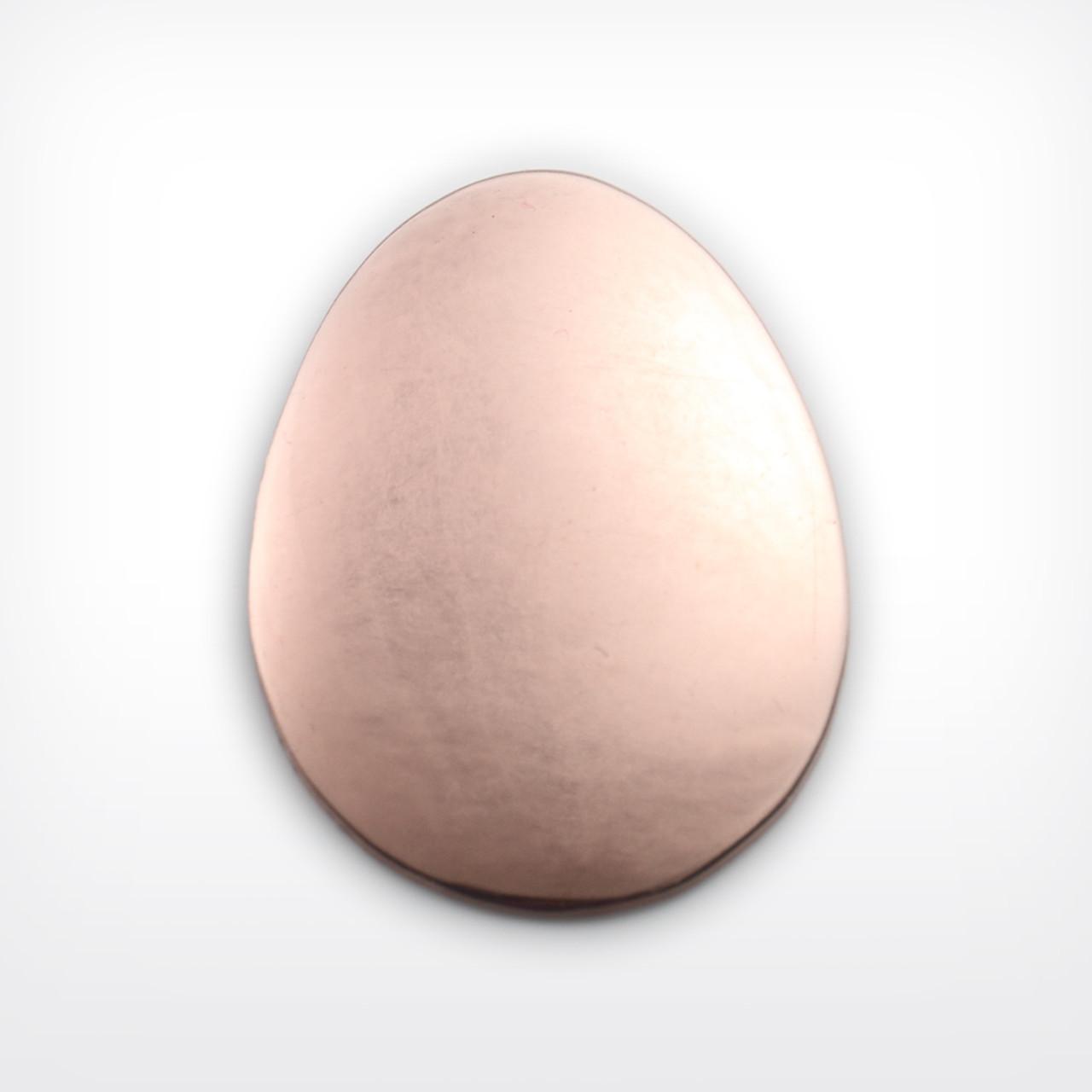 Copper Blank Egg Stamped Shape for Enamelling & Other Crafts