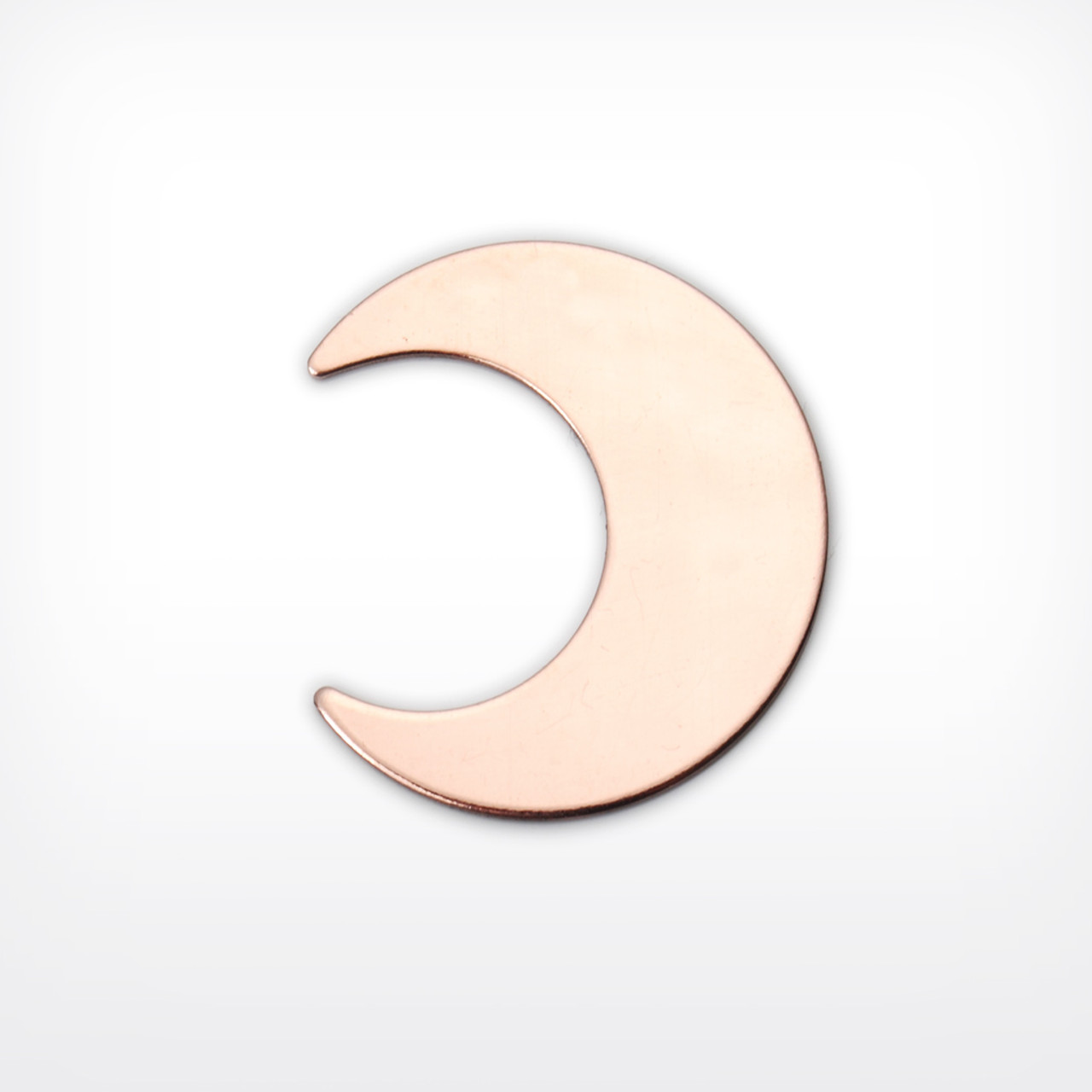 Copper Blank Crescent Stamped Shape for Enamelling & Other Crafts