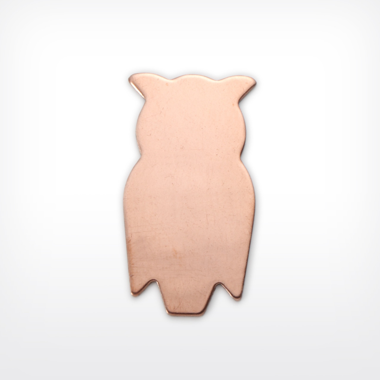 Copper Blank Owl Stamped Shape for Enamelling & Other Crafts