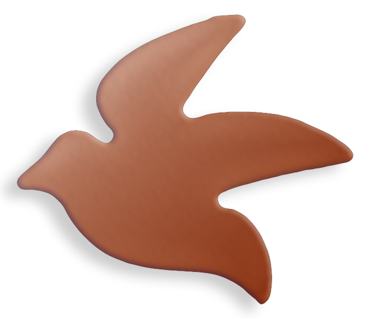 Copper Blank Dove Stamped Shape for Enamelling & Other Crafts