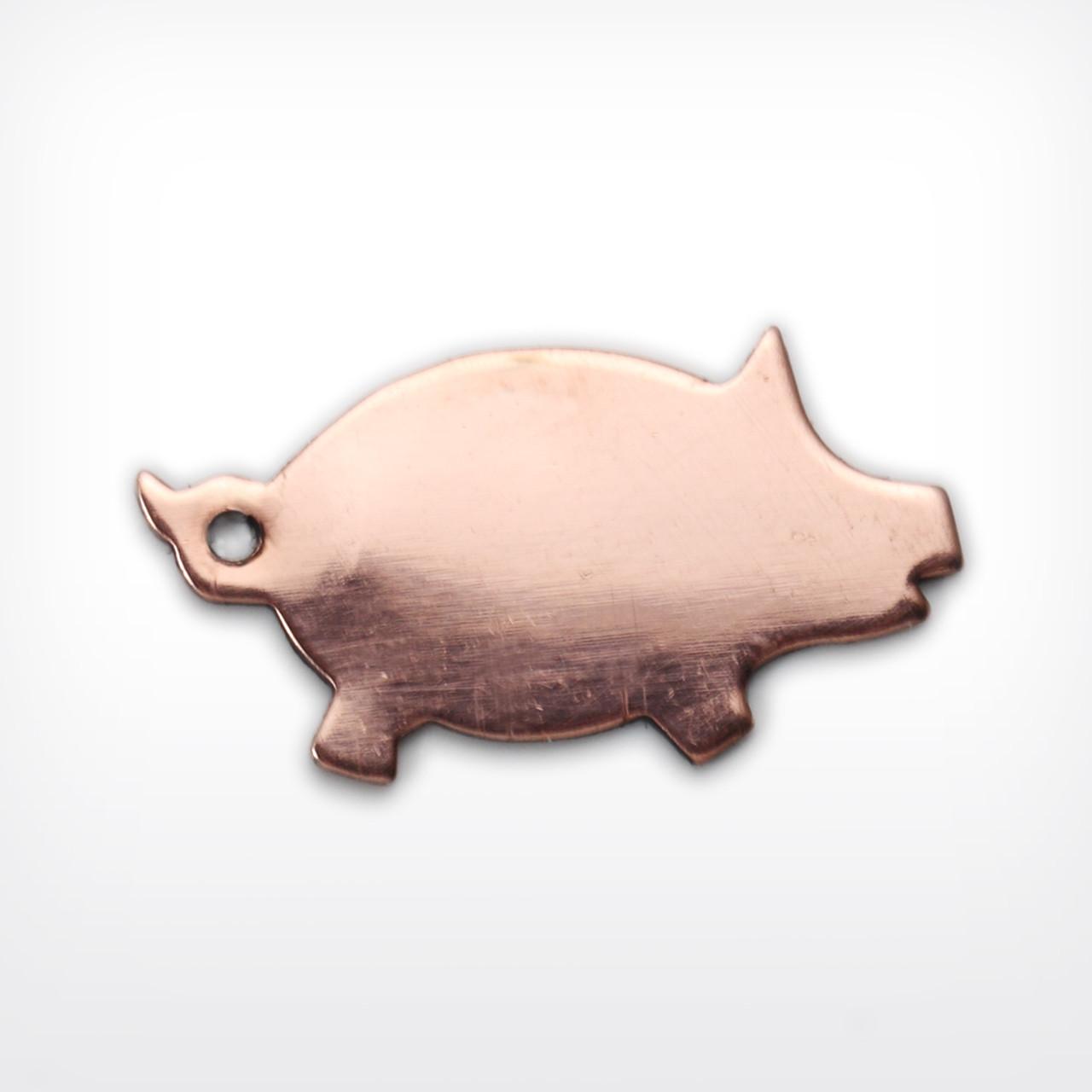 Copper Blank Pig Stamped Shape for Enamelling & Other Crafts