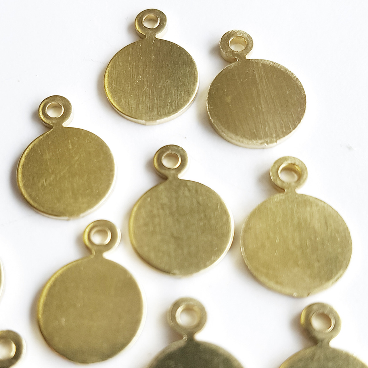 Brass tag for jewellery making and other crafts