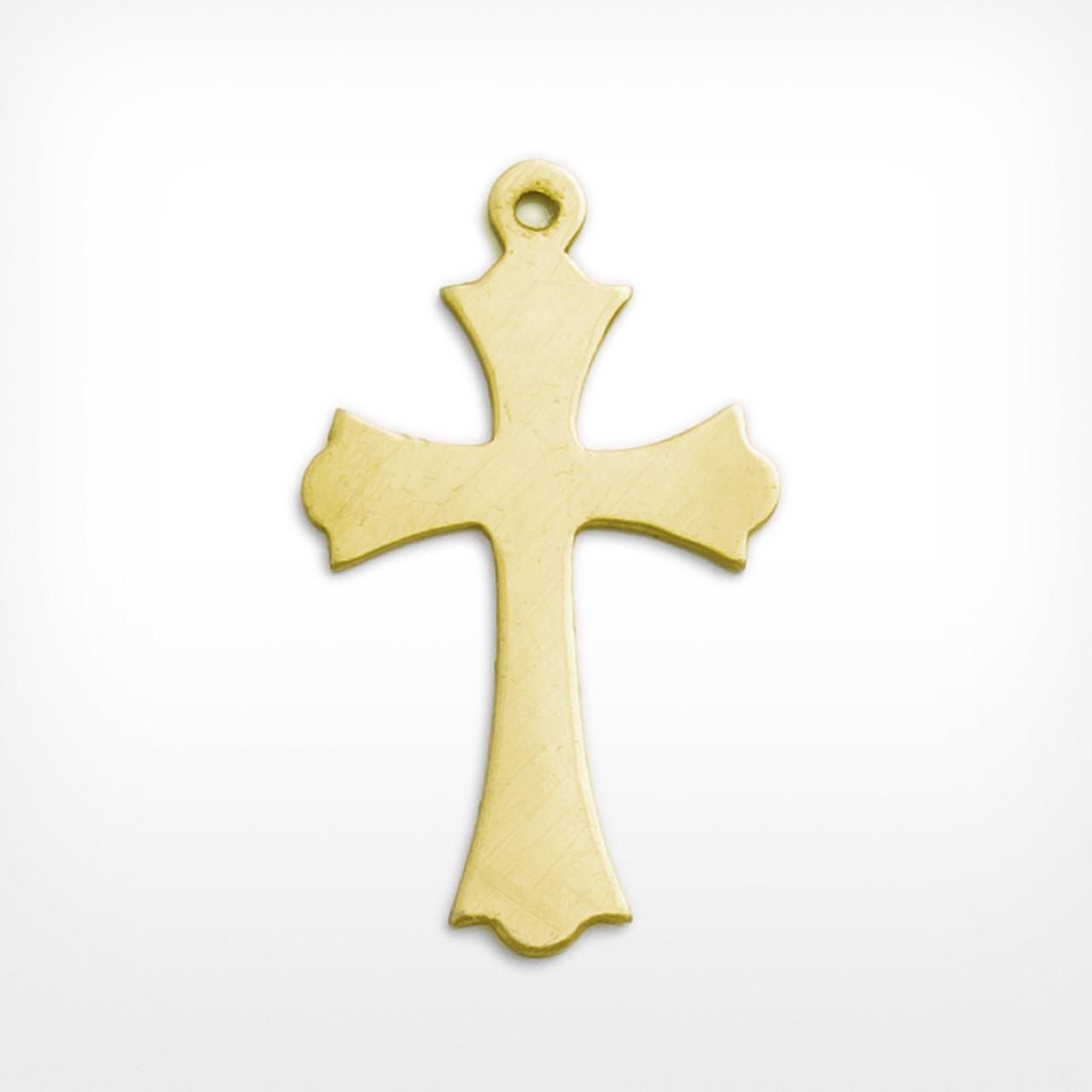 Brass cross for craft jewellery making