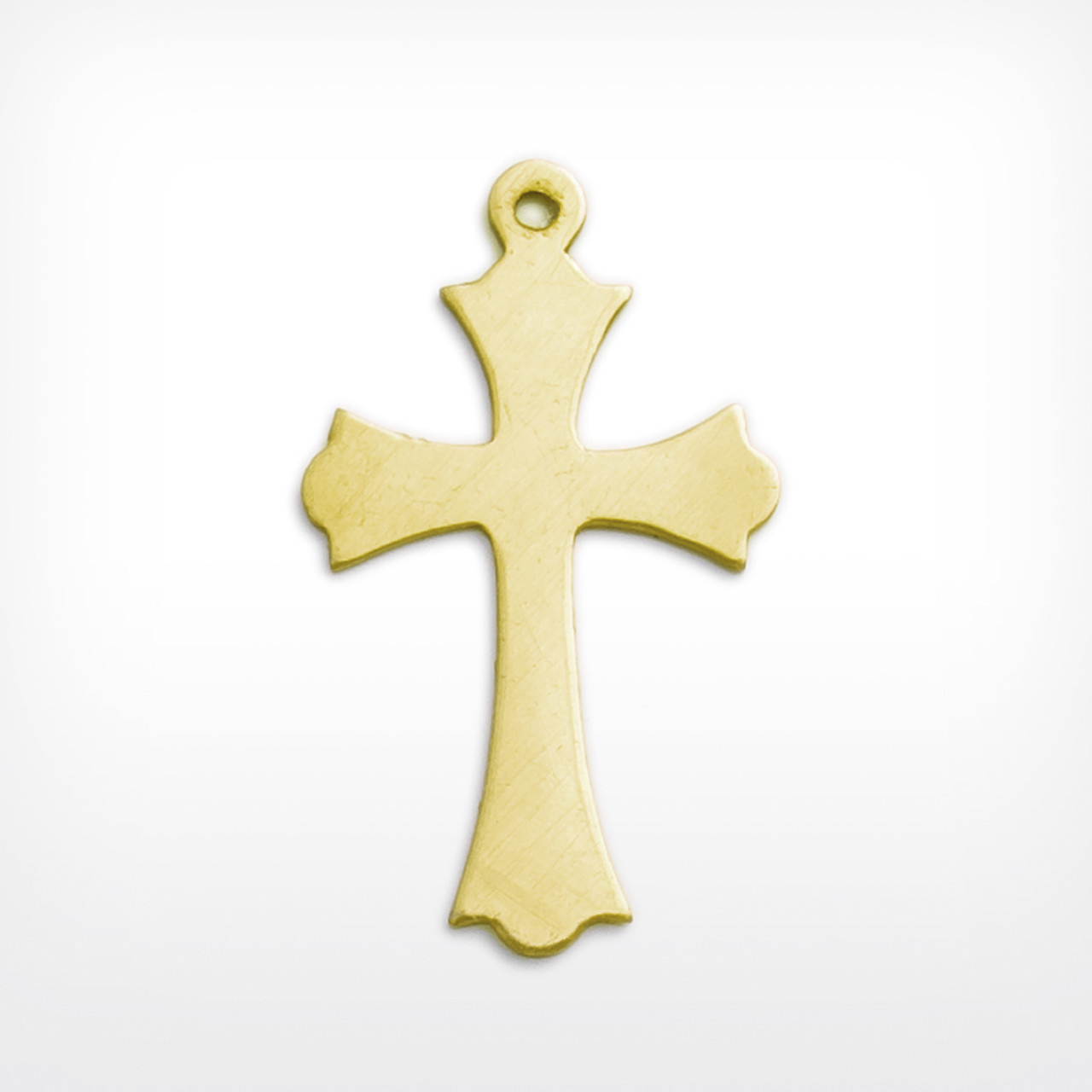 Brass cross for craft jewellery making