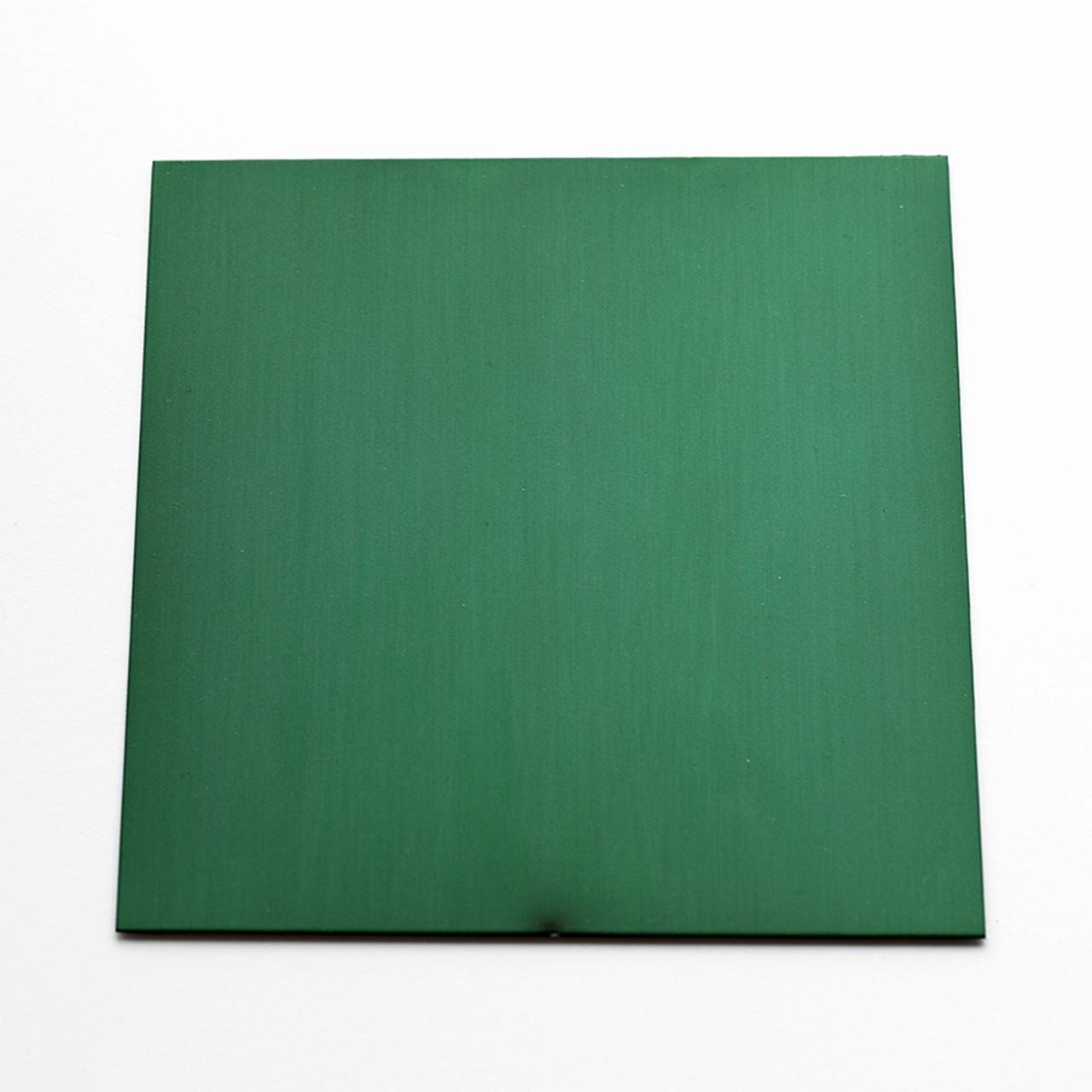 Green anodised aluminium square
