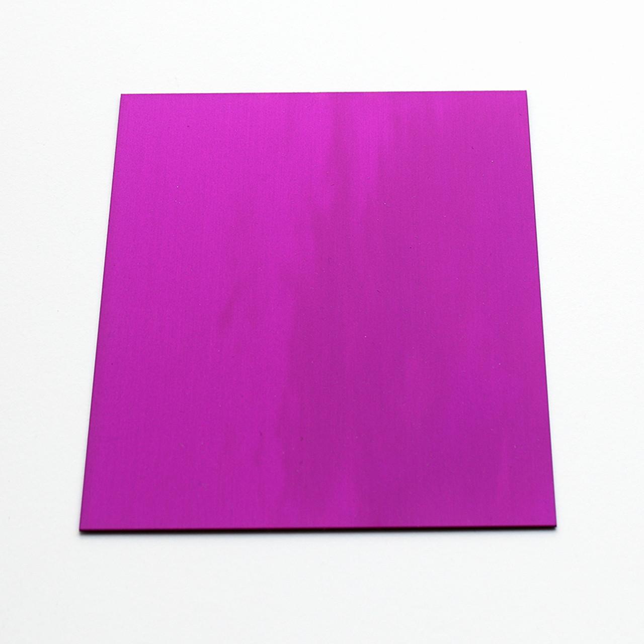 Purple anodised aluminium square