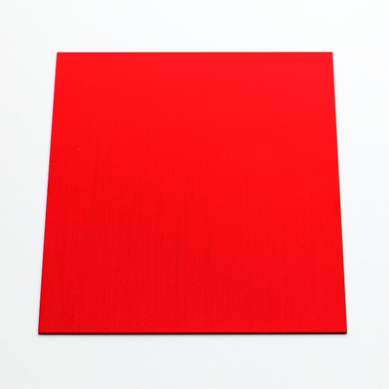 Red Anodised Aluminium Square