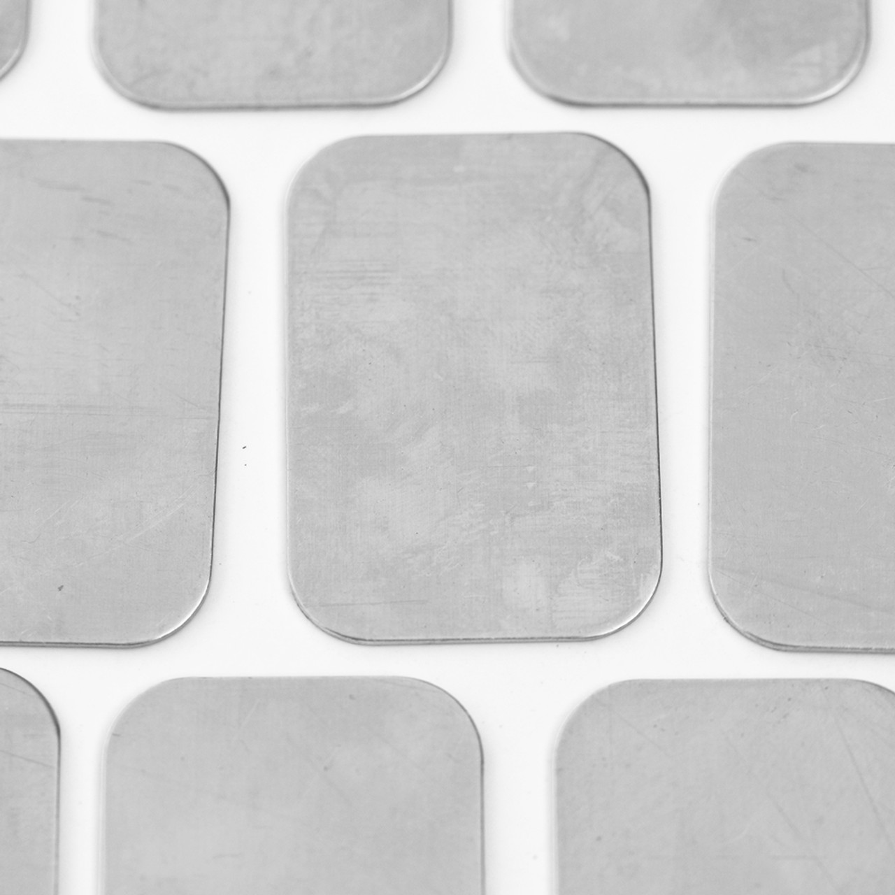 Aluminium rectangle metal tag for jewellery and other crafts