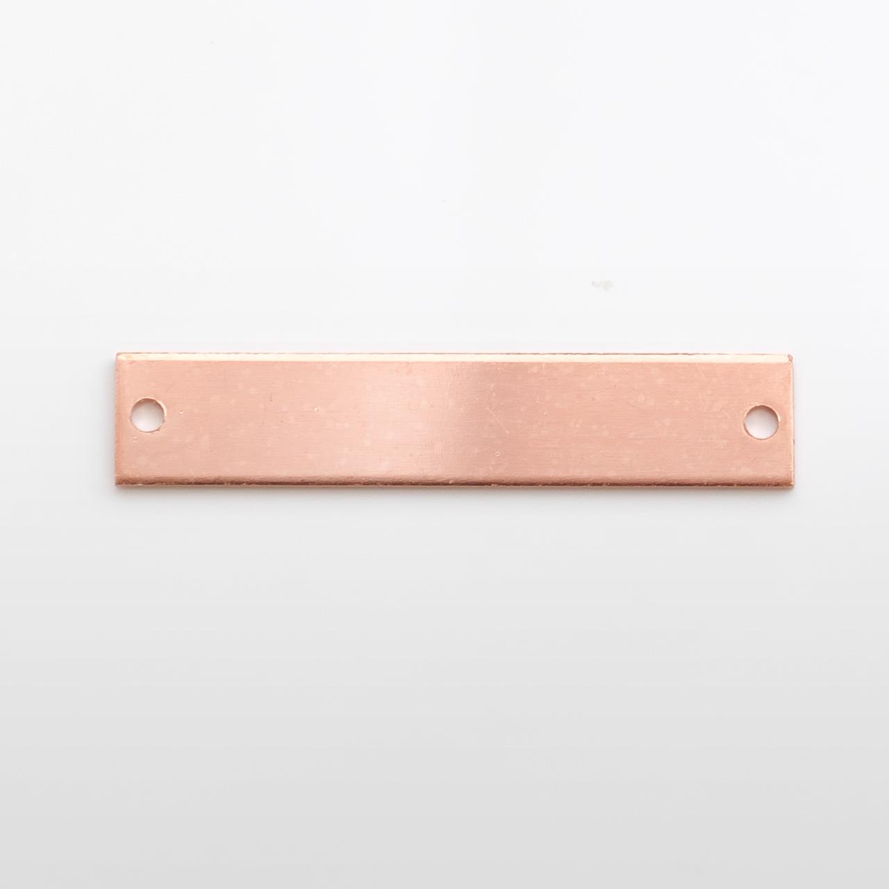Copper Bracelet piece, 40x8mm - Pack of 10 (608-CU)