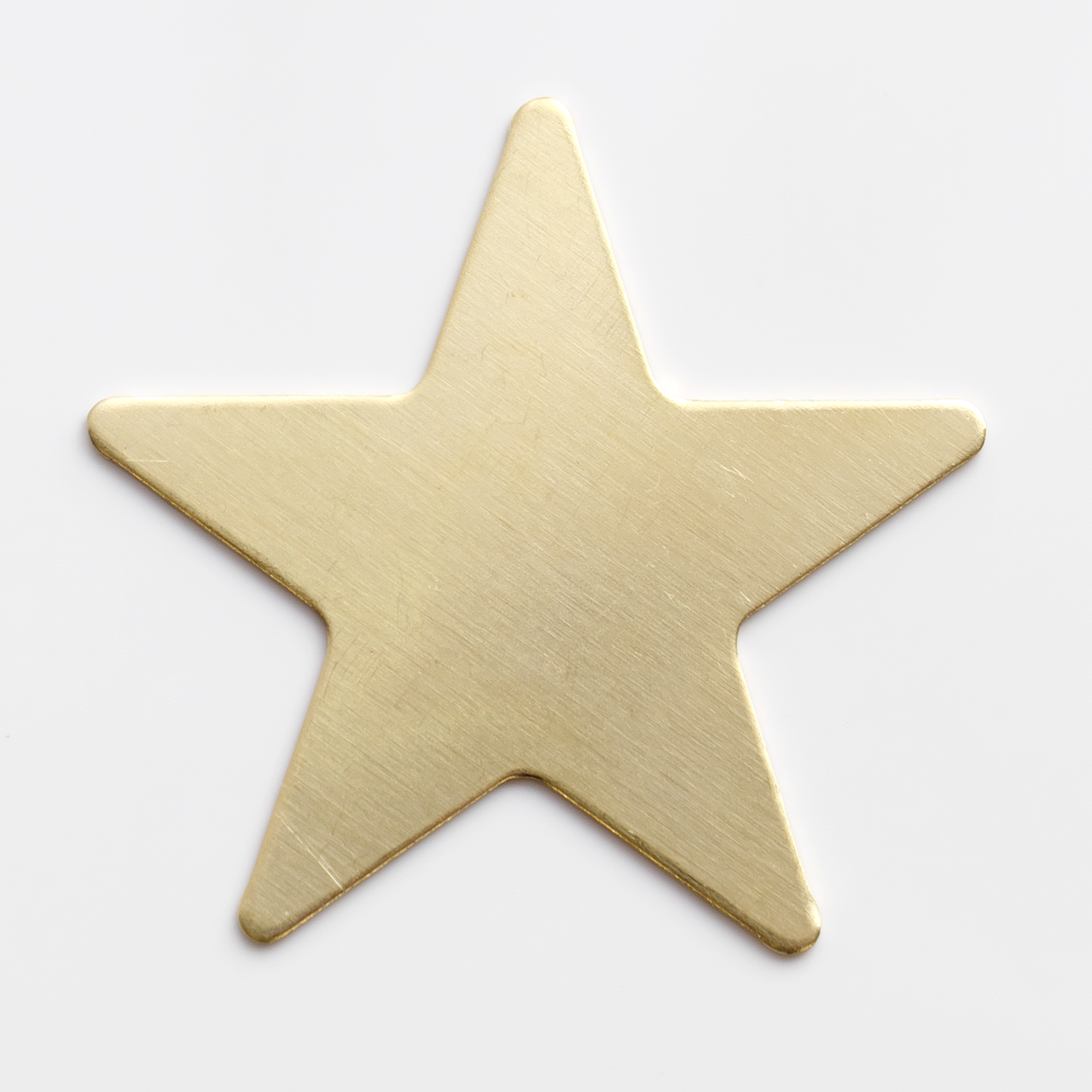 Brass Star, 5 pointed- Pack of 10 (957-BR)