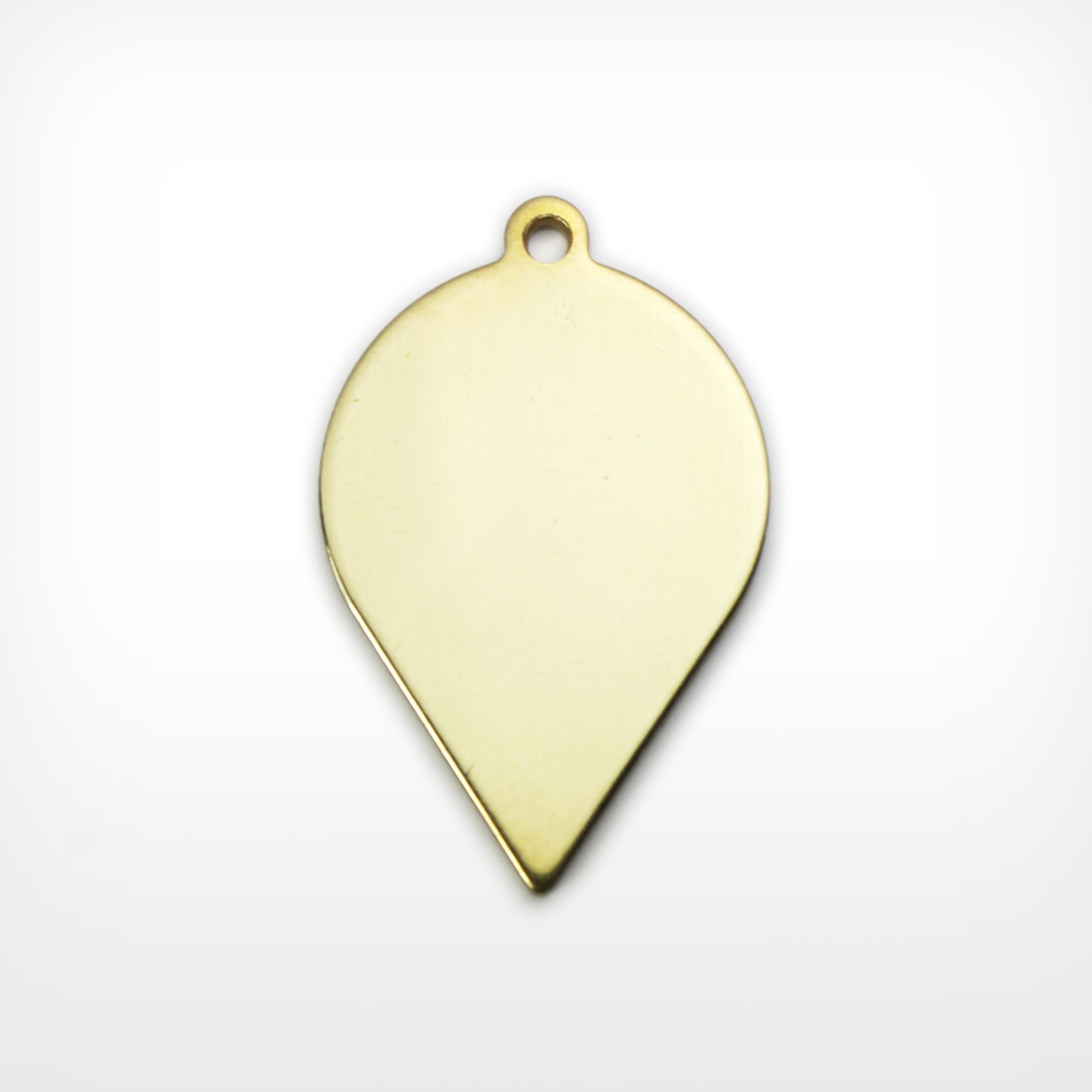 Brass Blank Stamped Drop for Jewelry Metalwork and & Other Crafts