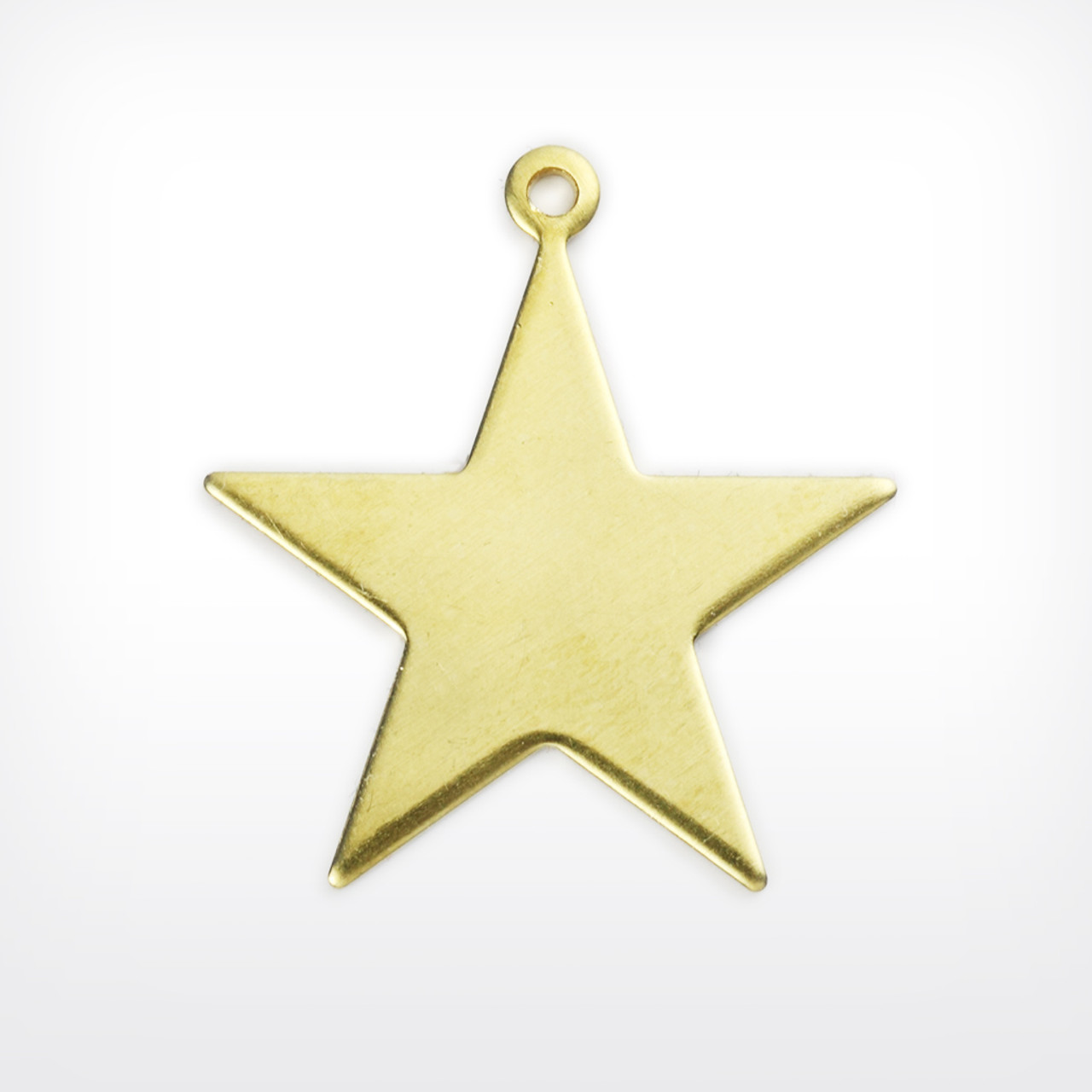 Brass Blank Stamped Star for Jewelry Metalwork and & Other Crafts