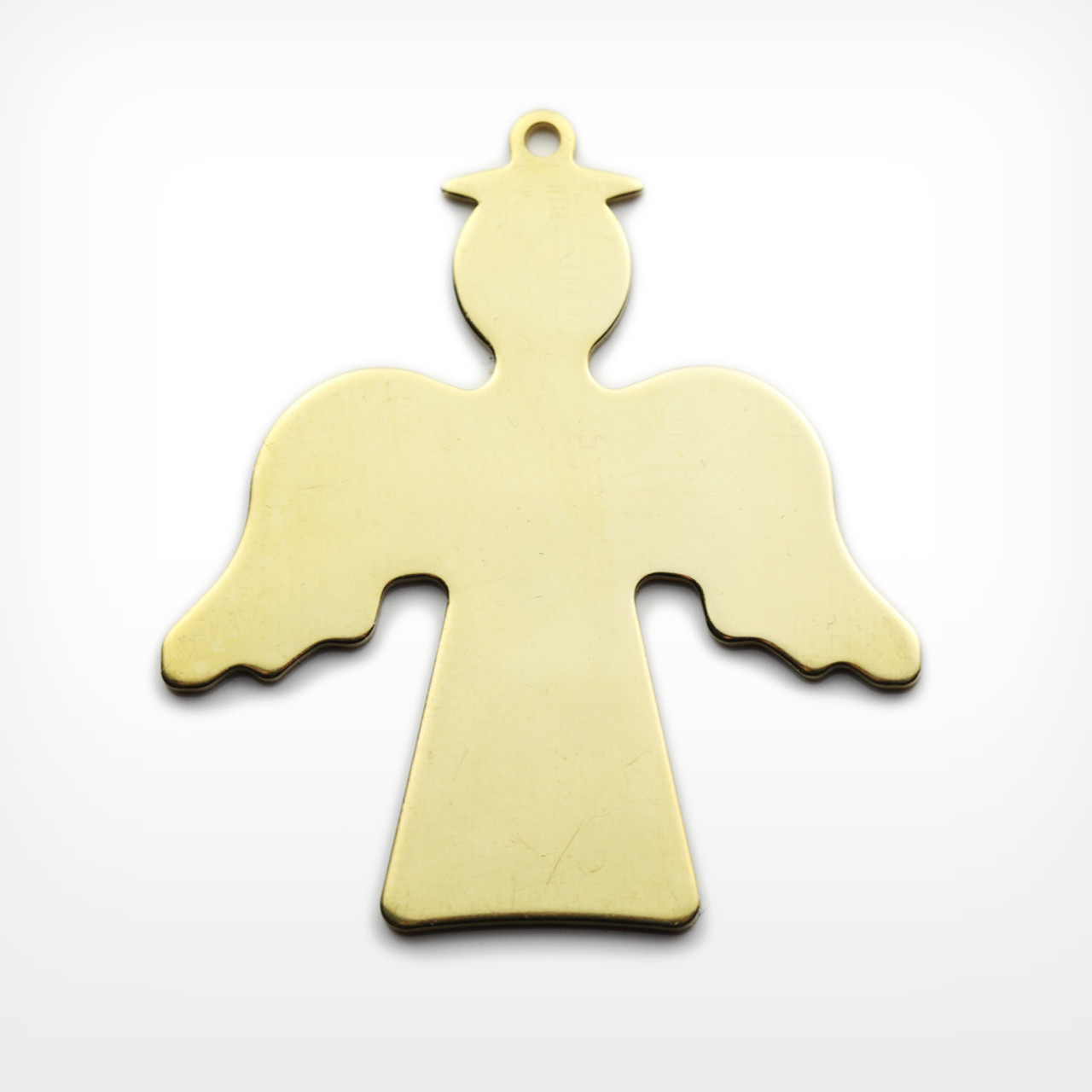 Brass Angel, with lug - Pack of 10 (440-BR)