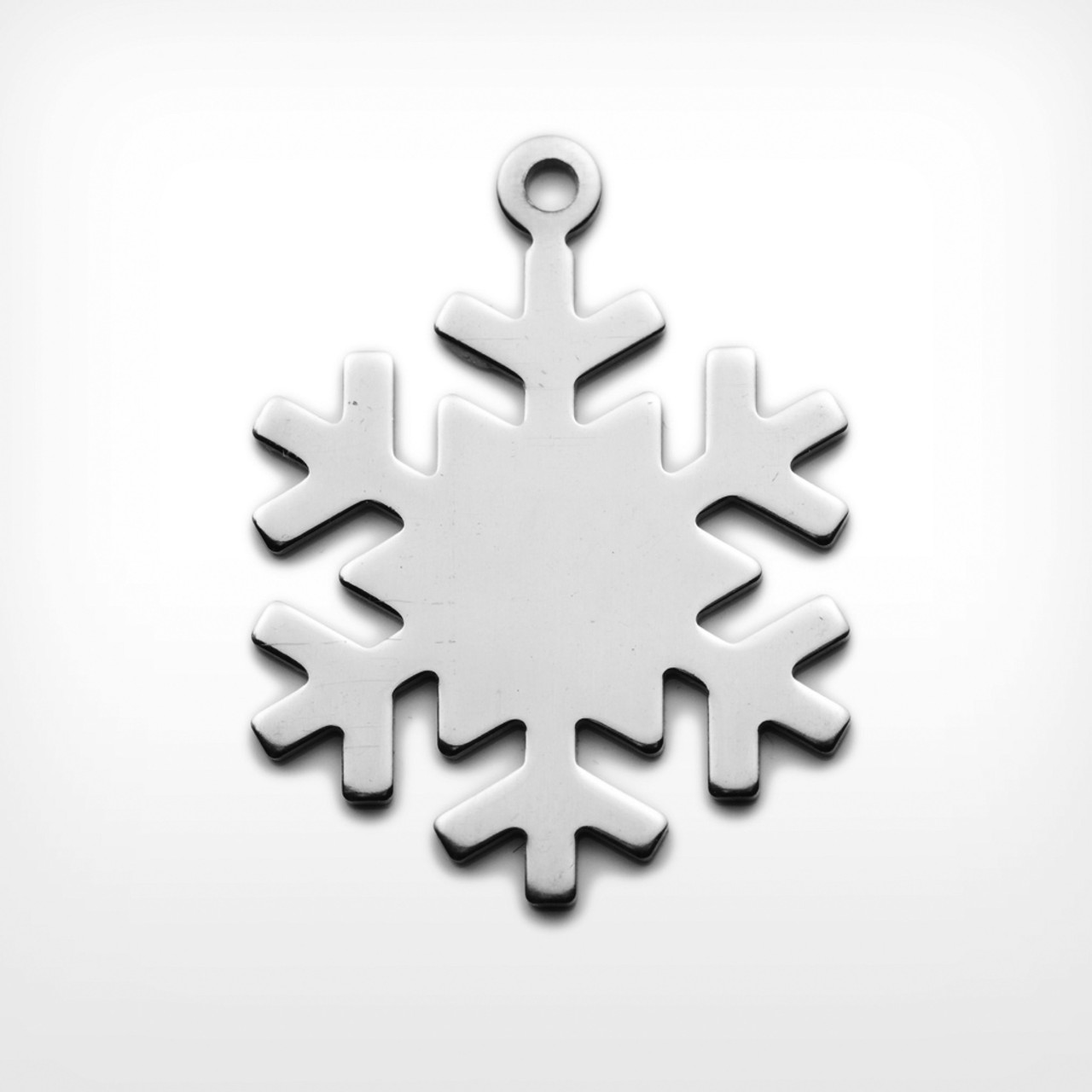 Aluminium Snowflake, with lug - Pack of 10 (442-AL)