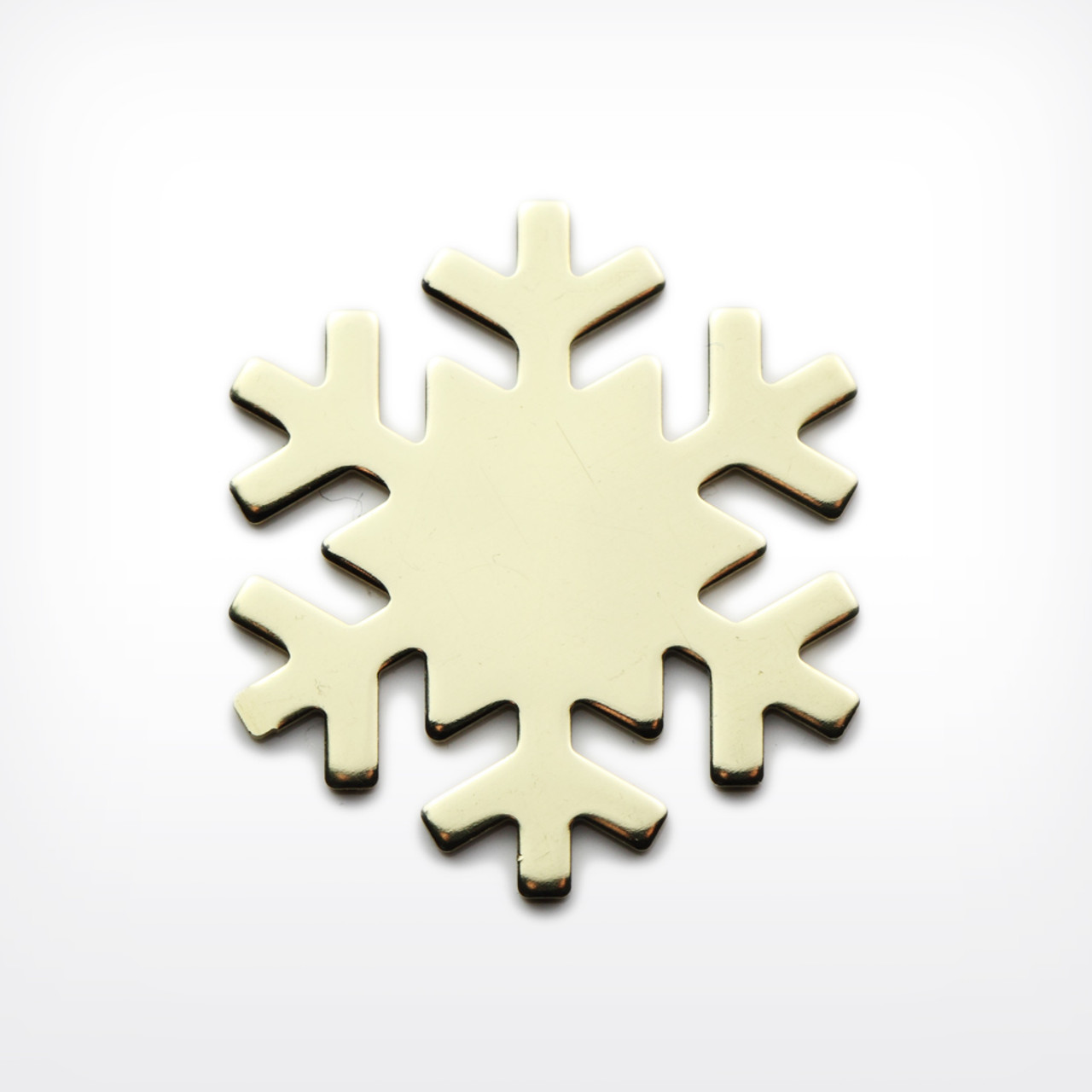 Brass Snowflake - Pack of 10 (445-BR)