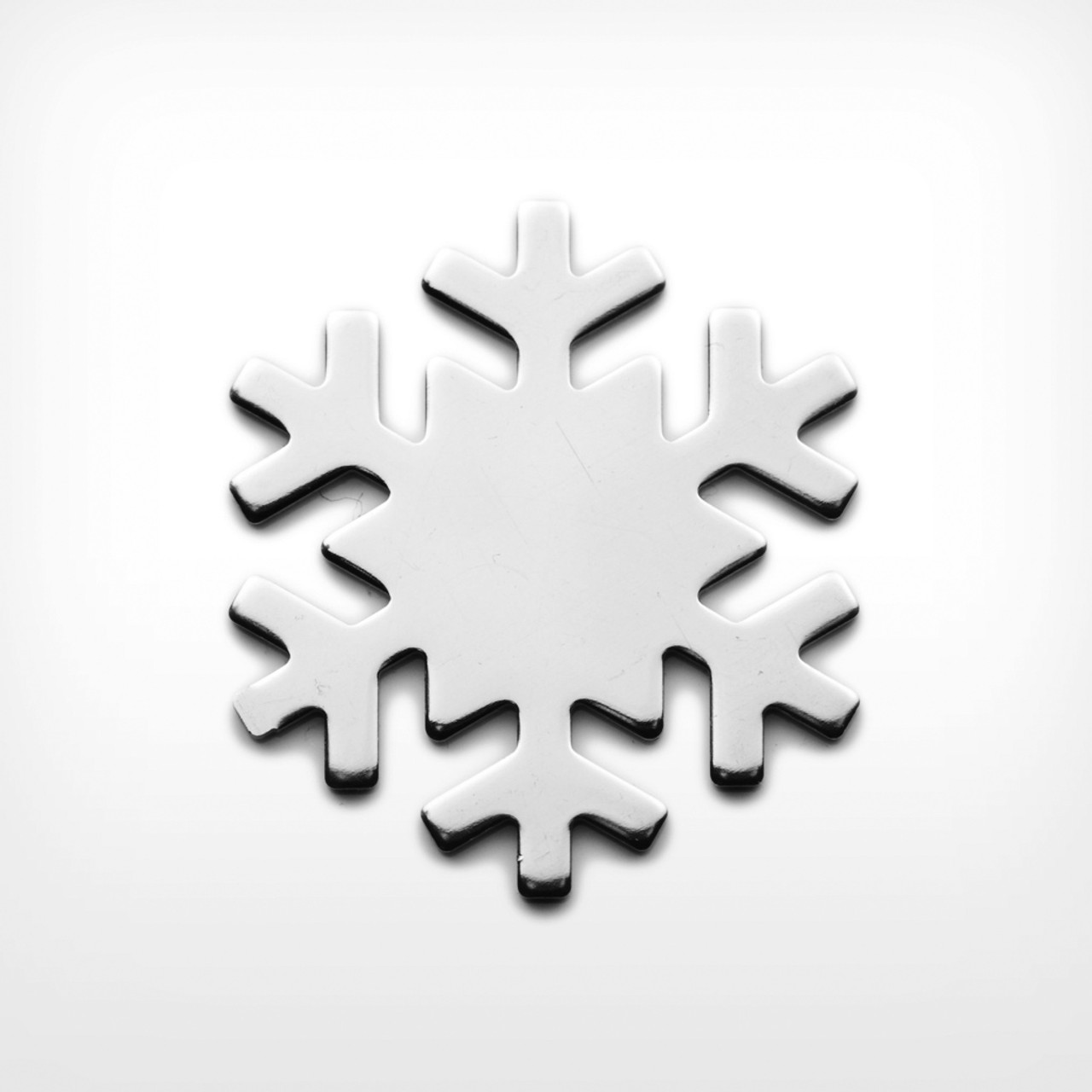Aluminium Snowflake - Pack of 10 (445-AL)