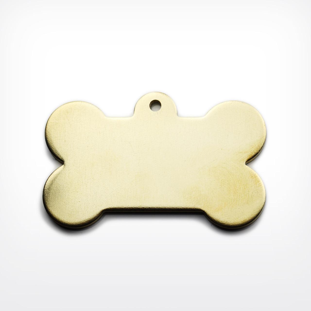 Brass Dog Bone, heavy gauge - Pack of 10 (490-BR)
