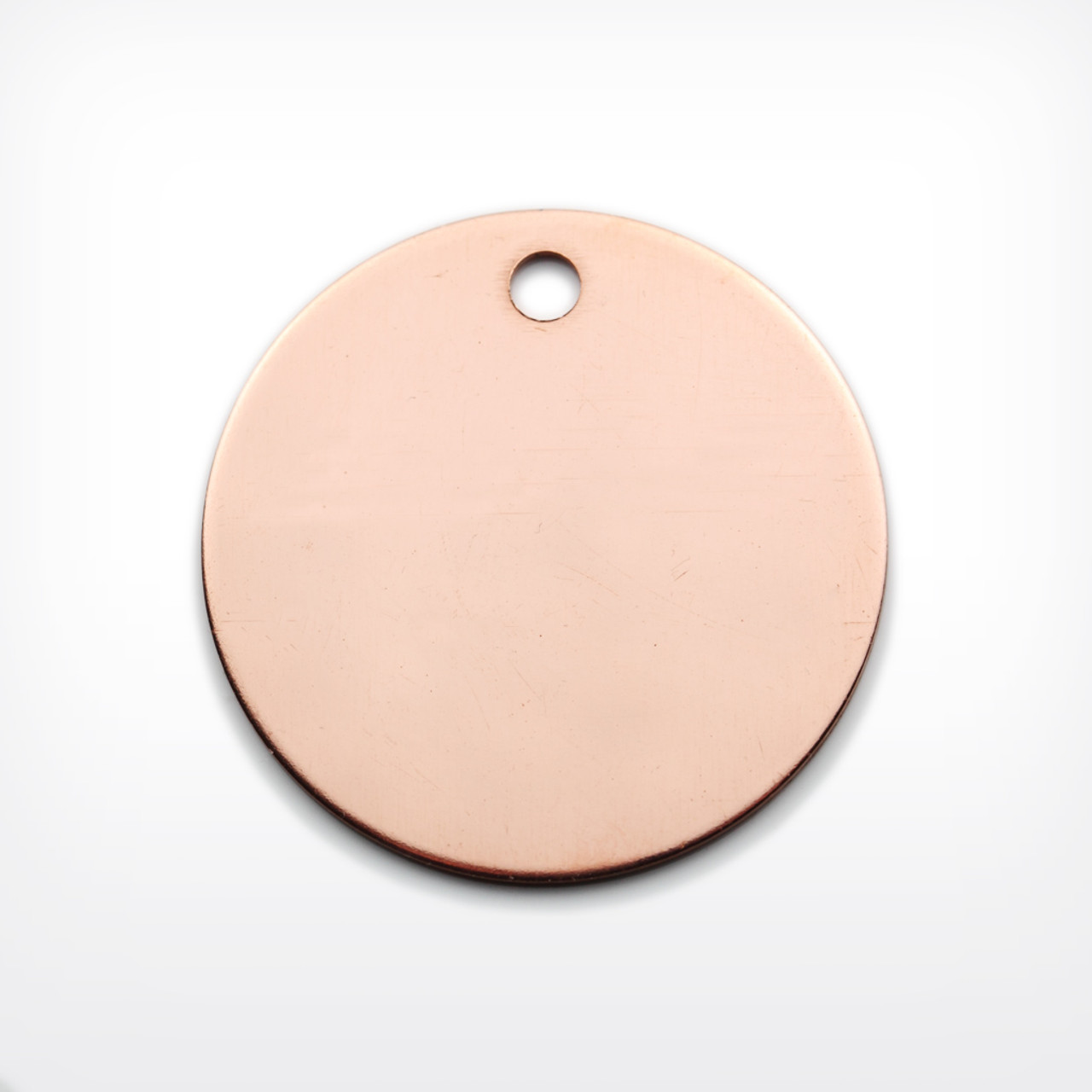 Copper Disc with 3mm piercing, 29mm, heavy gauge - Pack of 10 (637-CU)