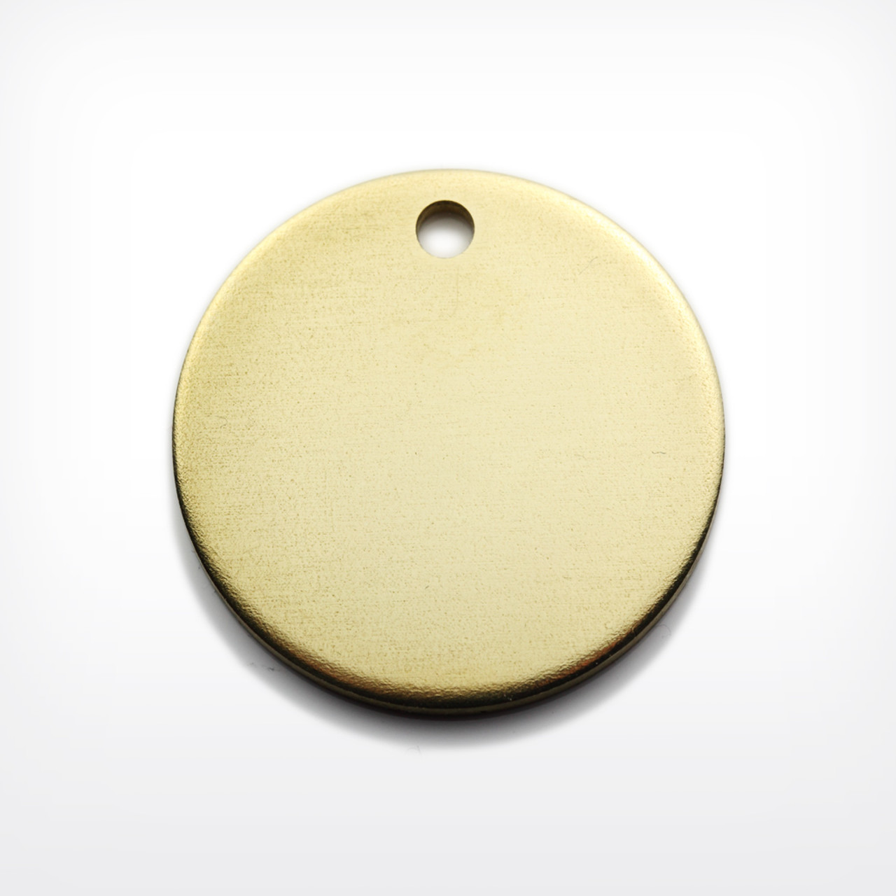 Brass Disc, 29mm, heavy gauge - Pack of 10 (637-BR)