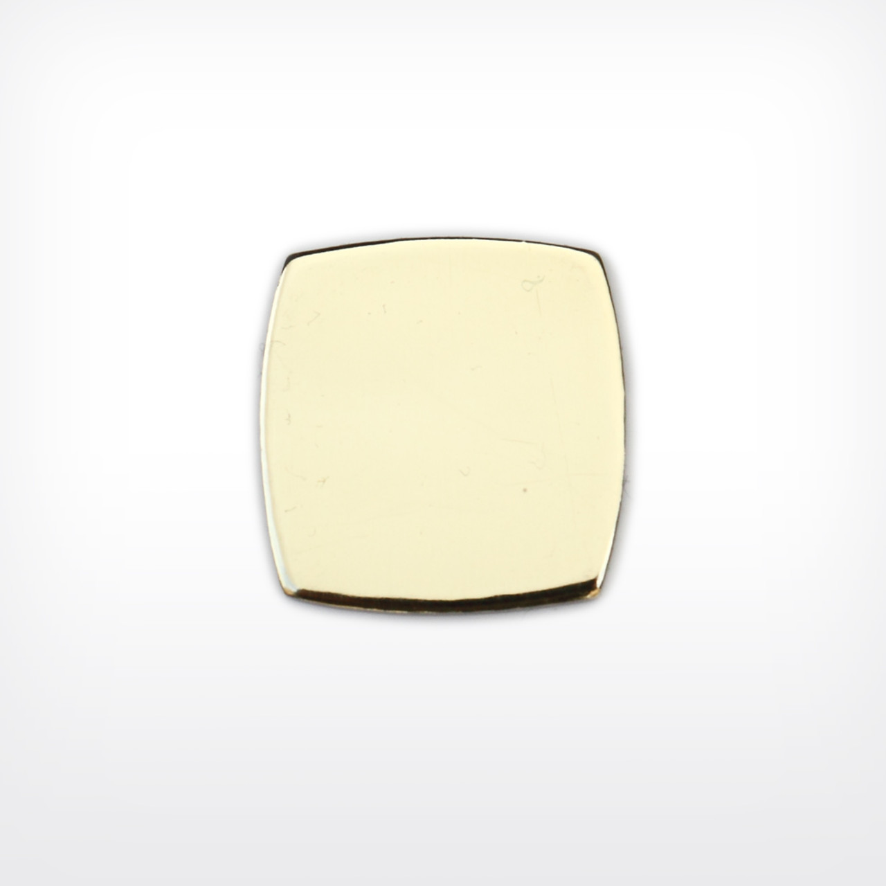 Brass Square, curvy - Pack of 10 (554-BR)