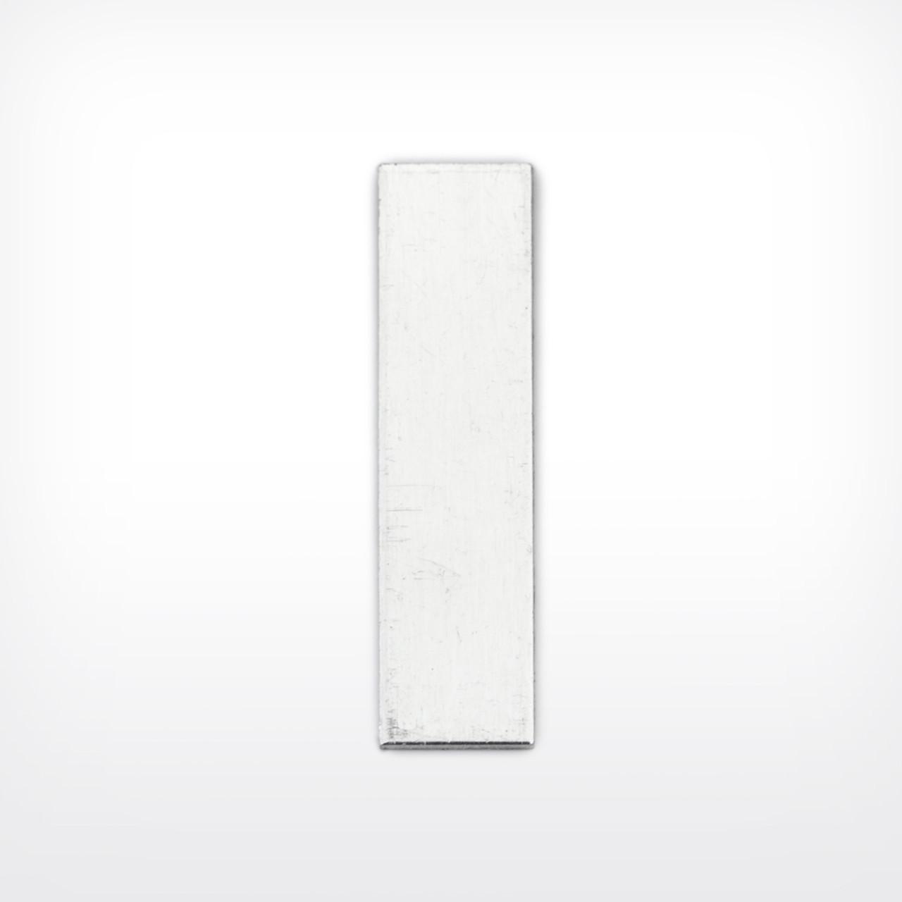 Aluminium Rectangle, 30x8mm - Pack of 10 (607-AL)
