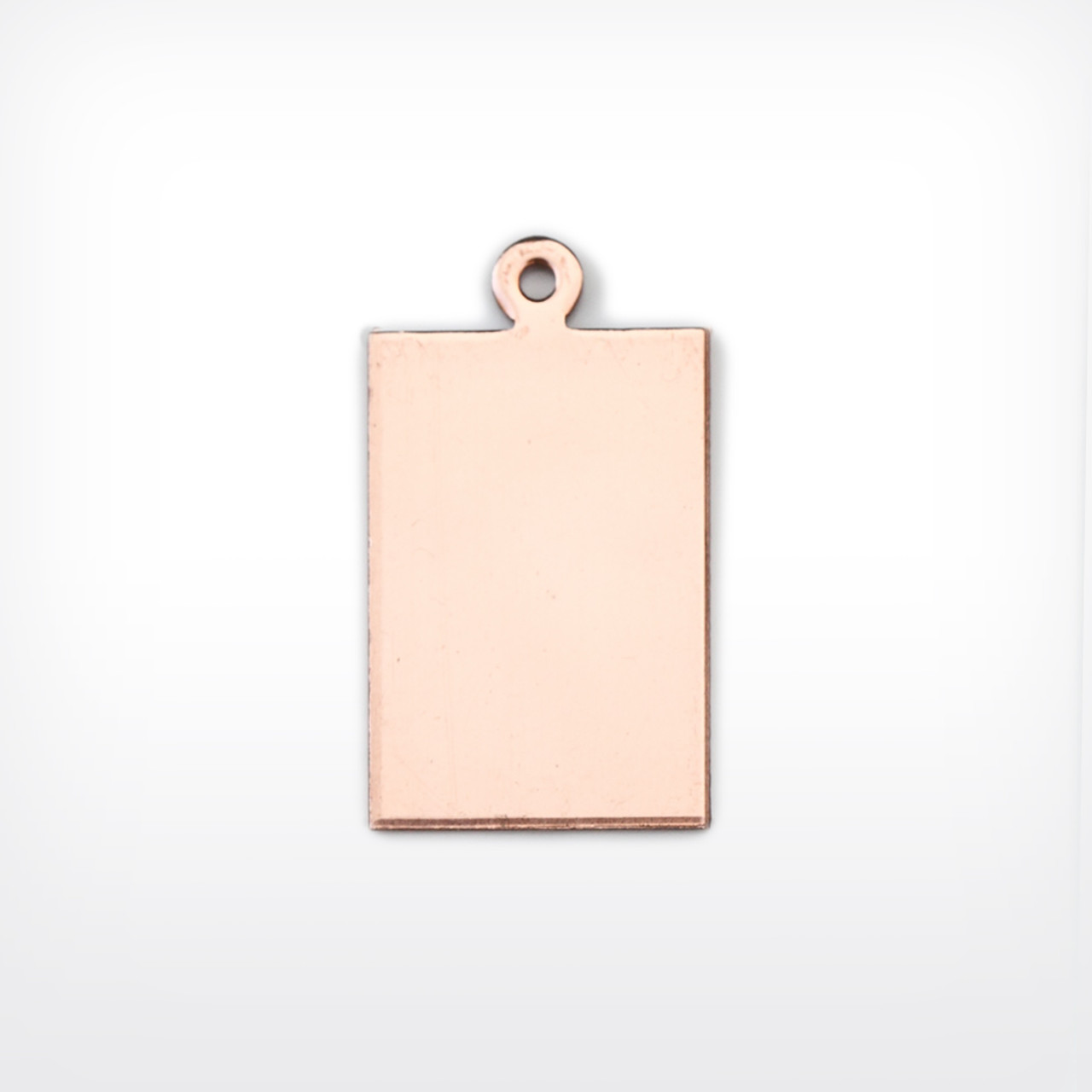 Copper Rectangle with lug, 22x15mm - Pack of 10 (506-CU) - END OF LINE 50% OFF