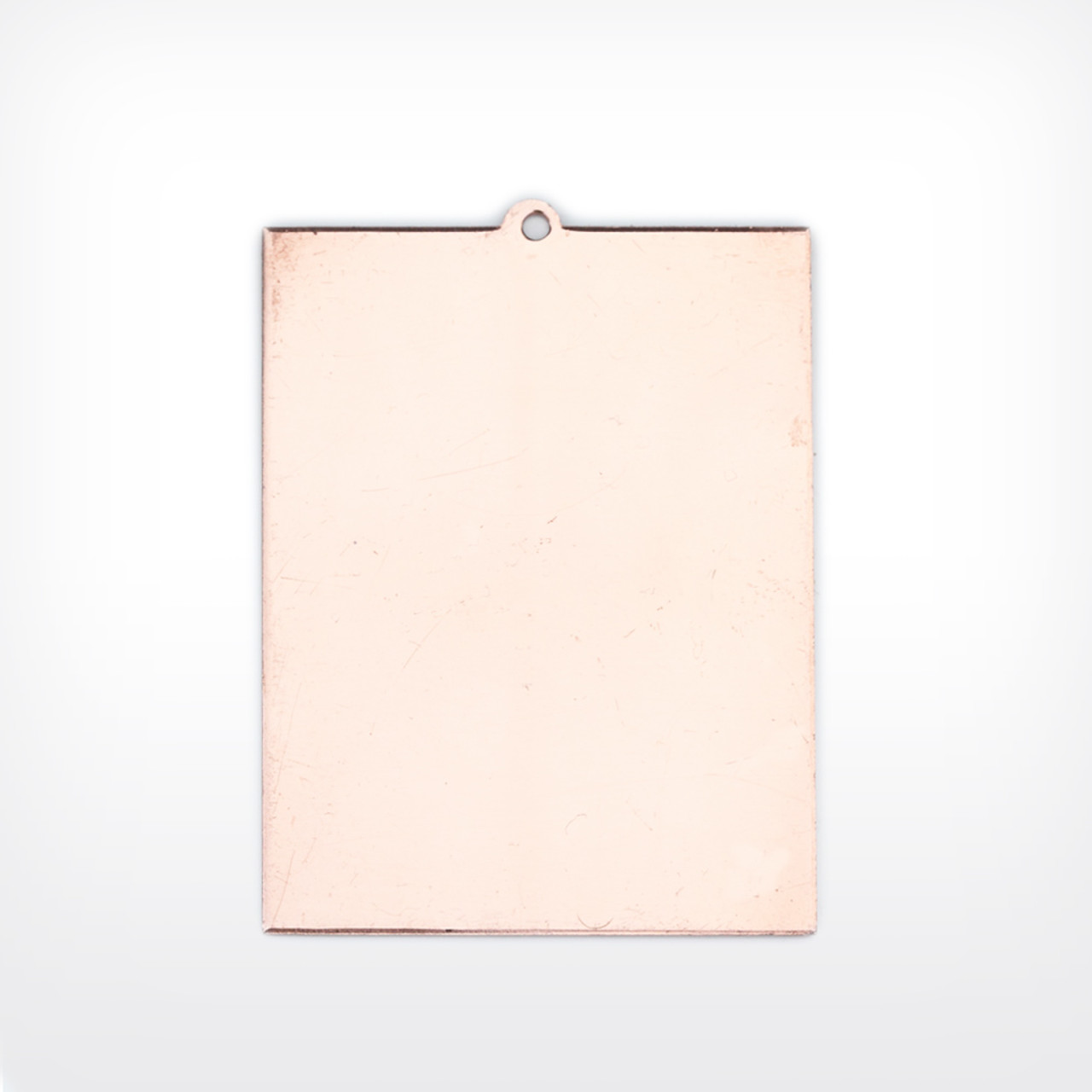 Copper Rectangle with lug, 50x40mm - Pack of 10 (519-CU-L) - END OF LINE 50% OFF