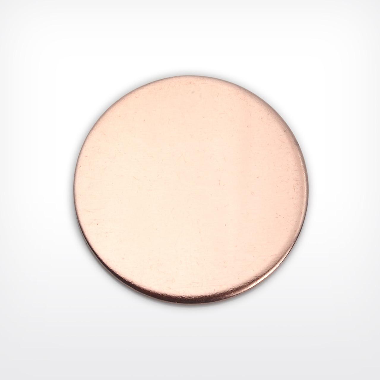 Copper Disc, 25.4mm (1 inch), heavy gauge - Pack of 10 (654-CU)