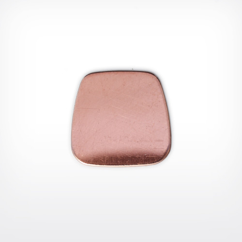 Copper Blank Trapezoid Stamped Shape for Enamelling & Other Crafts