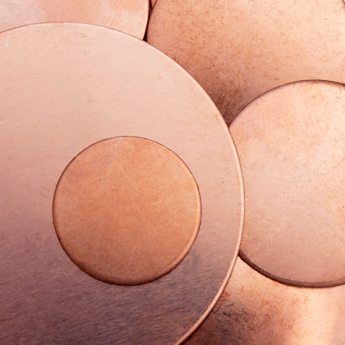 Copper Blank Disc Stamped Shape for Enamelling & Other Crafts