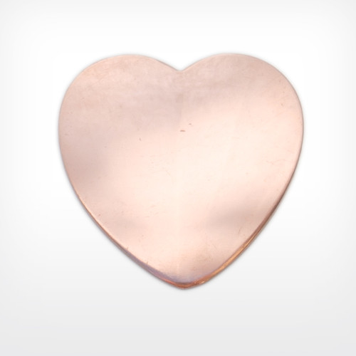 Copper Blank Heart Stamped Shape for Enamelling & Other Crafts