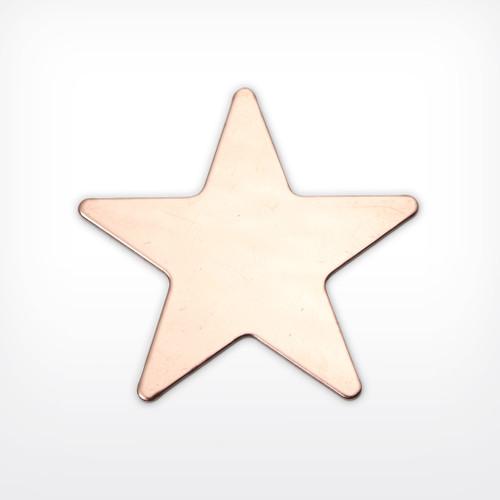 Enamelling Copper Blank Metal Stamping - Star, medium, 5 point - Enameling Supplies