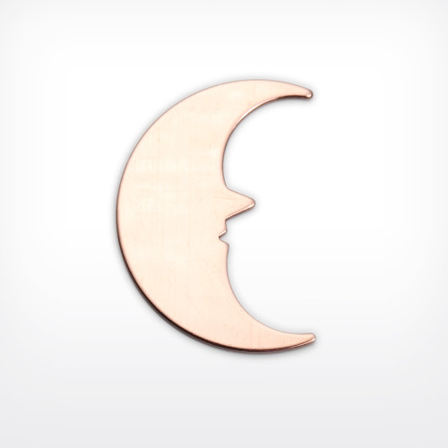 Copper Blank Moonface Stamped Shape for Enamelling & Other Crafts