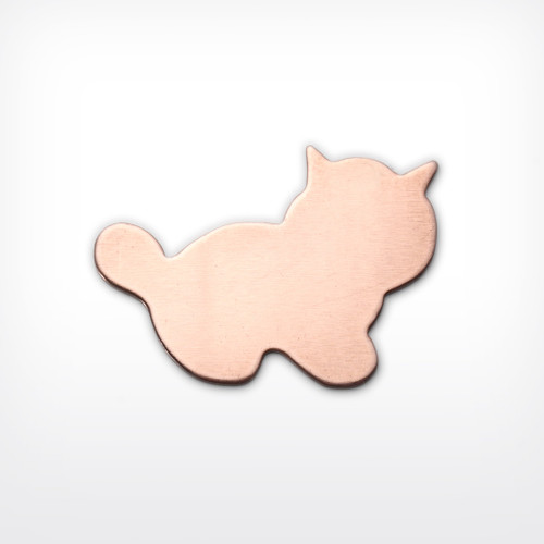 Copper Blank Kitten Stamped Shape for Enamelling & Other Crafts